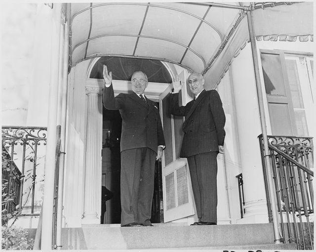 مصدق و پرزیدنت ترومن در سال ۱۹۵۱
